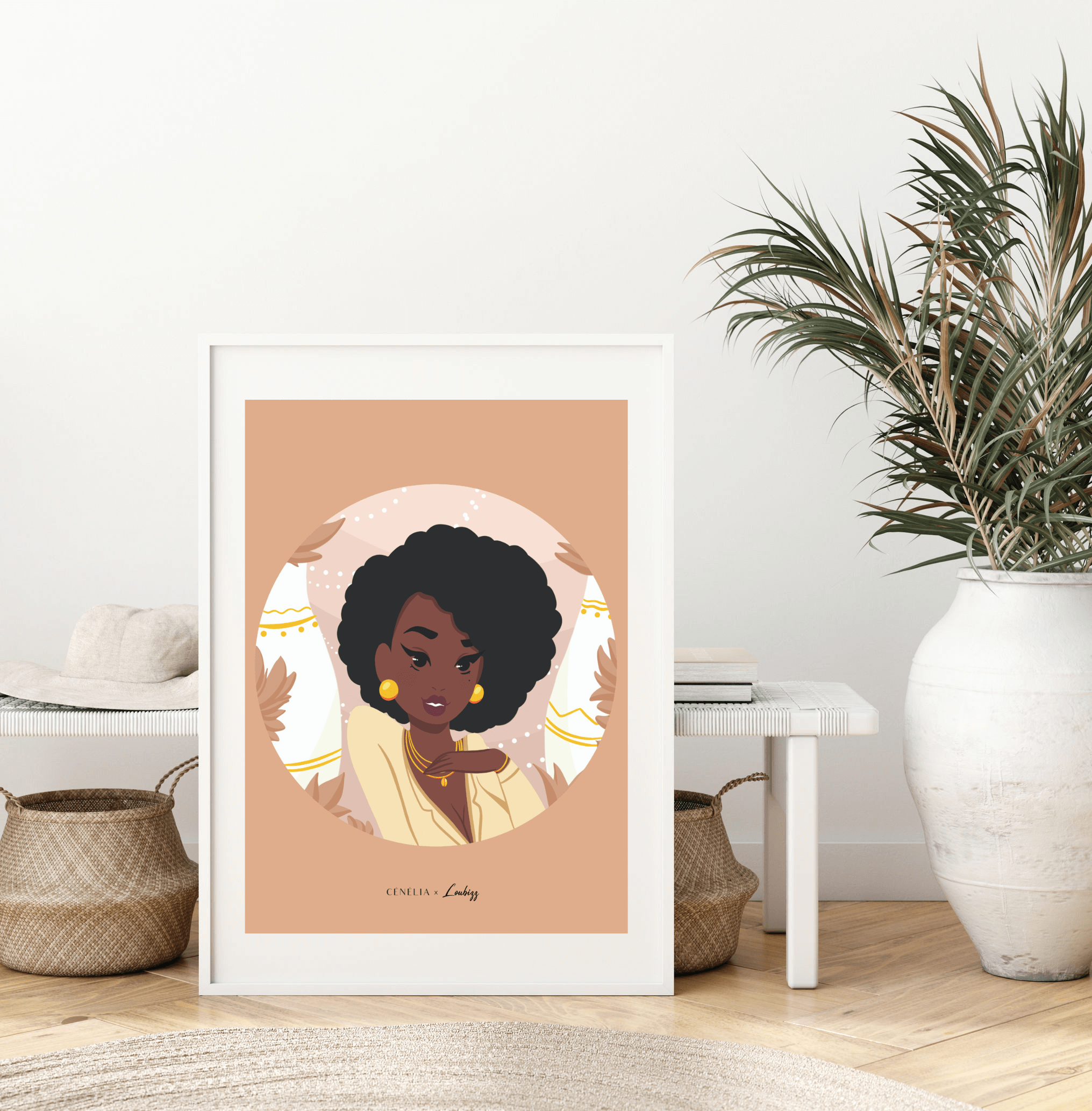 Affiche déco tendance | Poster femmes du monde | Poster fille des îles | Poster femme | Affiche femme antillaise | Cénélia