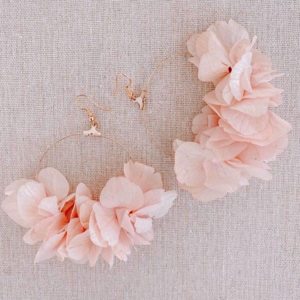 Boucles Cayo Guilermo - boucles d oreilles en fleurs Cénélia Martinique