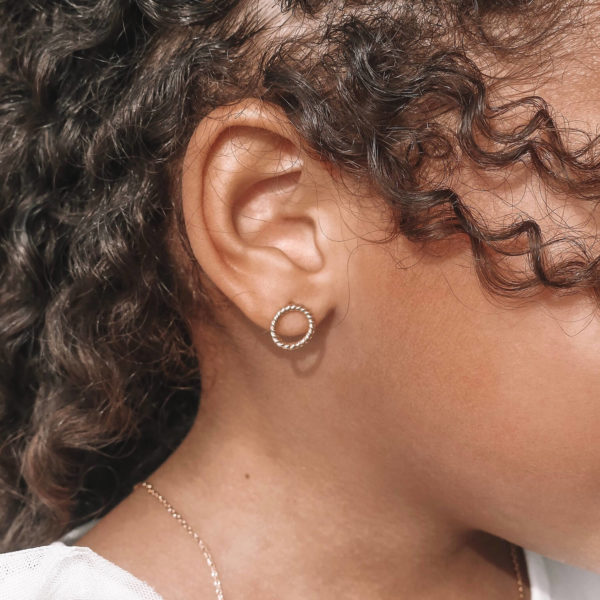 Boucles Claire - boucles d oreilles petite fille Cénélia
