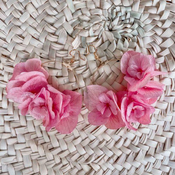 Boucles Gustavia - boucles d oreille fleurs éternelles Cénélia