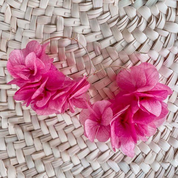 Boucles Lover's Beach - boucles d oreilles en fleurs éternelles Cénélia