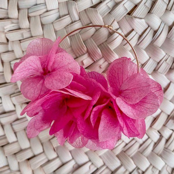 Boucles Lover's Beach - boucles d oreilles en fleurs éternelles Cénélia bijou