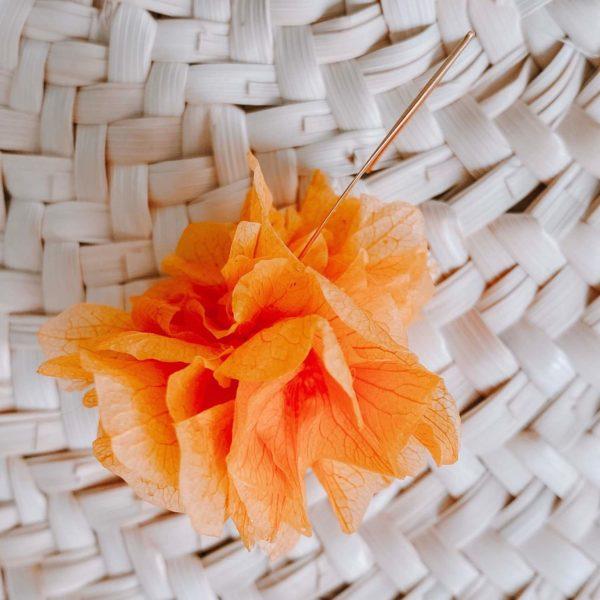 Boucles Orient Bay - boucle d oreille fleur éternelle Cénélia bijoux