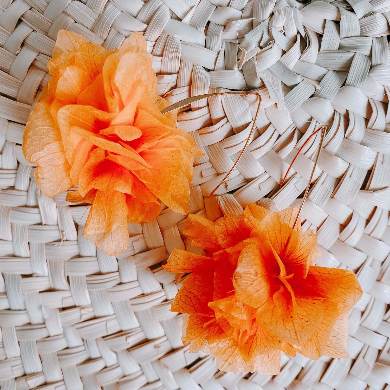 Boucles Orient Bay - boucle d oreille fleur éternelle Cénélia