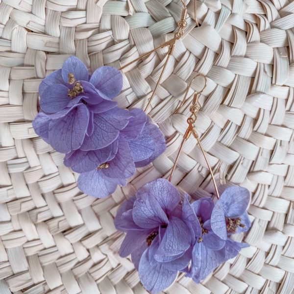 Boucles Toiny - Boucles d oreilles en fleurs éternelles Cénélia