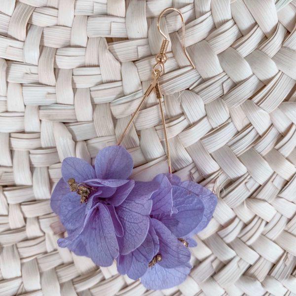 Boucles Toiny - Boucles d oreilles en fleurs éternelles Cénélia Martinique