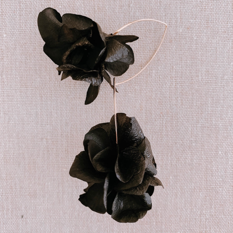 Boucles Union - boucles d oreilles en fleurs stabilisées Martinique - Cénélia