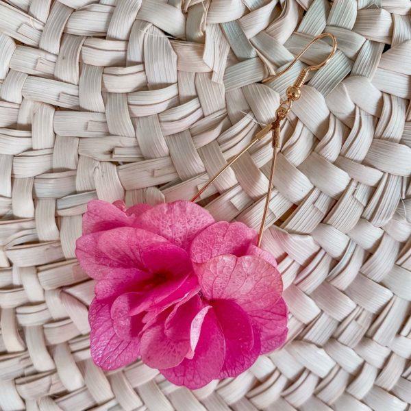 Boucles d oreilles en fleurs éternelles Cénélia Martinique - Petite Caye