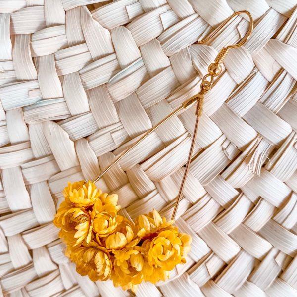 Boucles d oreilles en vraies fleurs Martinique Cénélia - Macouba