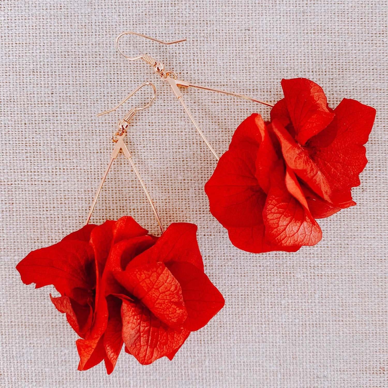 Boucles d oreilles en vraies fleurs cénélia martinique - Playa Rincon