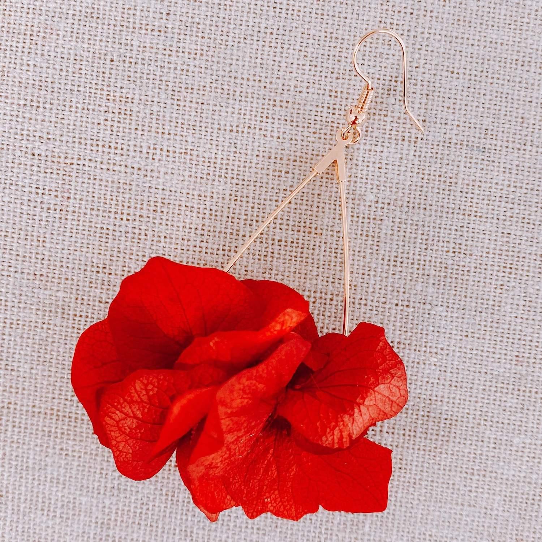 Boucles d oreilles en vraies fleurs martinique Cénélia - Playa Rincon