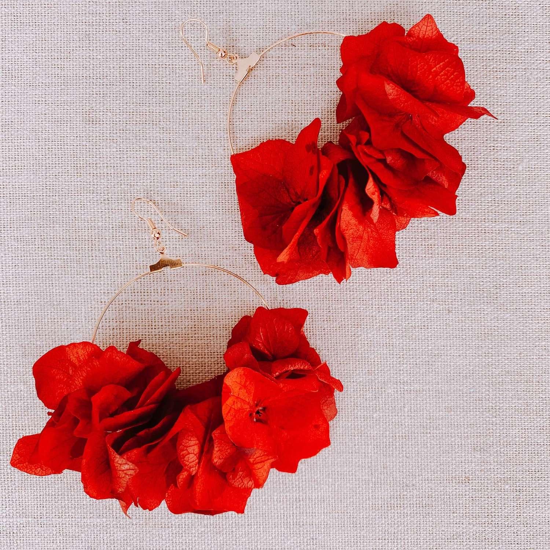 Boucles d oreilles fleurs naturelles Cénélia - Maho Bay