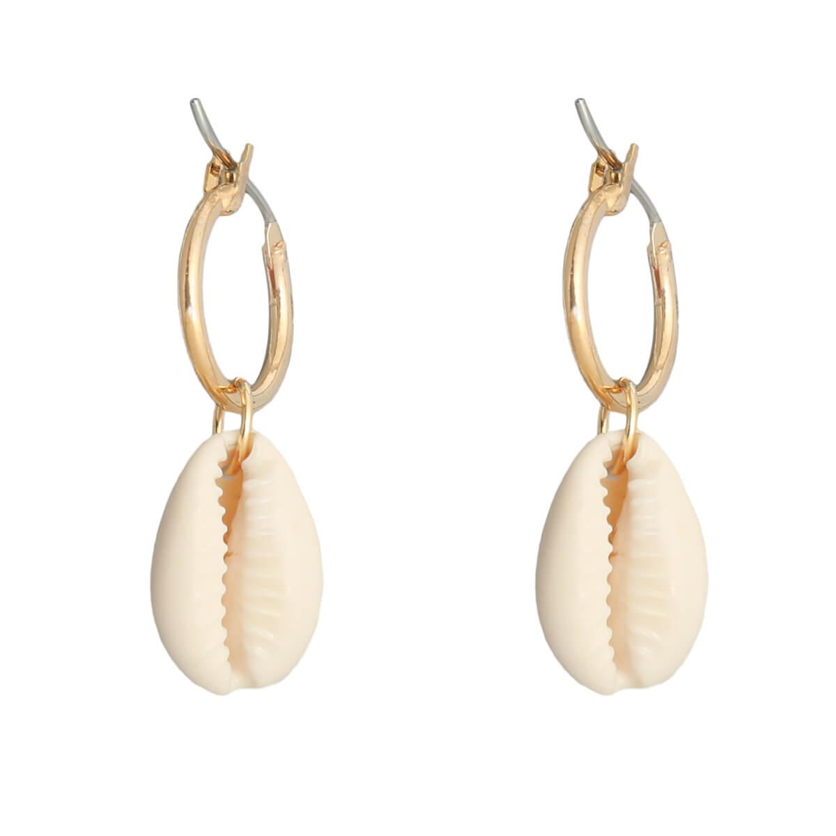 Boucles d'oreilles cauri - Cénélia - Barbuda