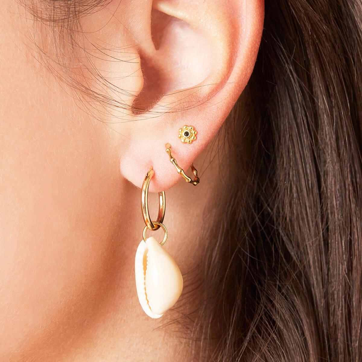 Boucles d'oreilles cauri - Cénélia - - Barbuda
