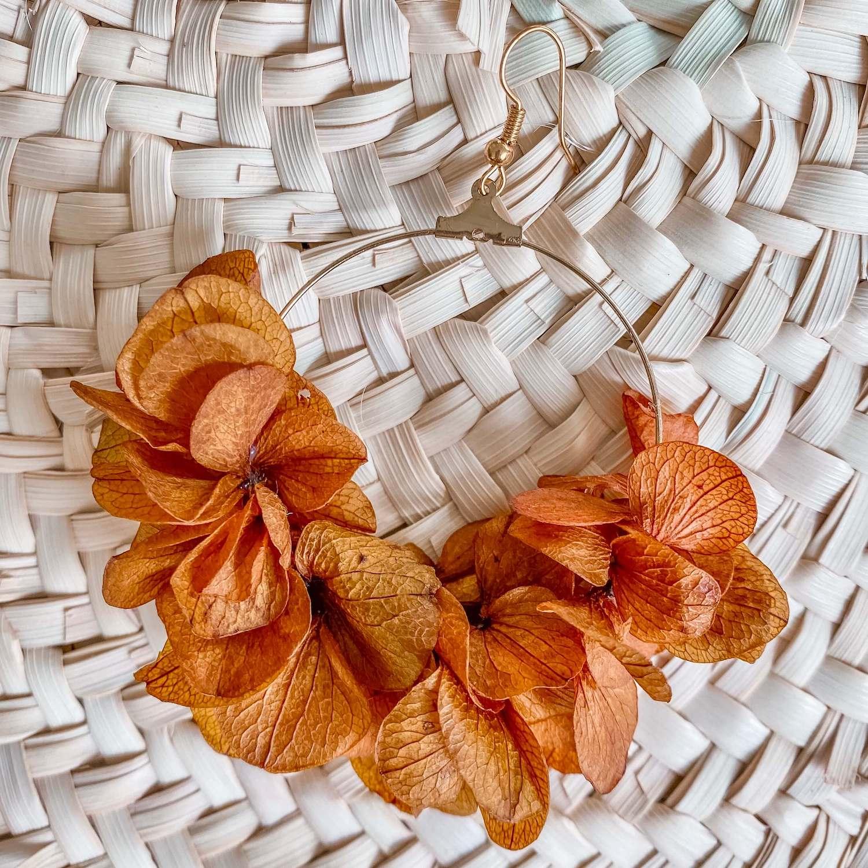 Boucles d'oreilles en fleurs éternelles Coconut Grove - cénélia