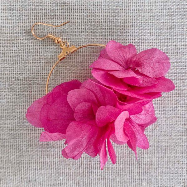 Boucles d'oreilles fleurs naturelles Cénélia - Playa Paraiso