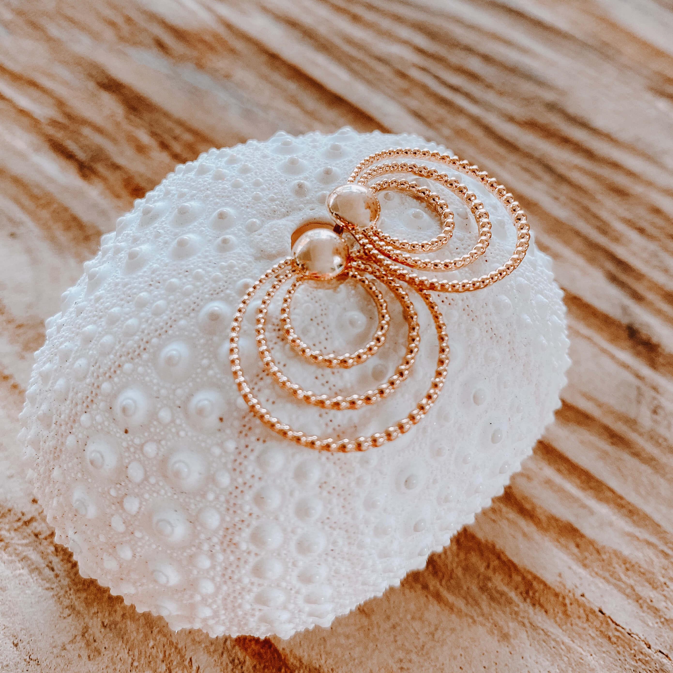 Boucles d'oreilles tendance - boucles d oreille dorées - Cénélia - Curaçao