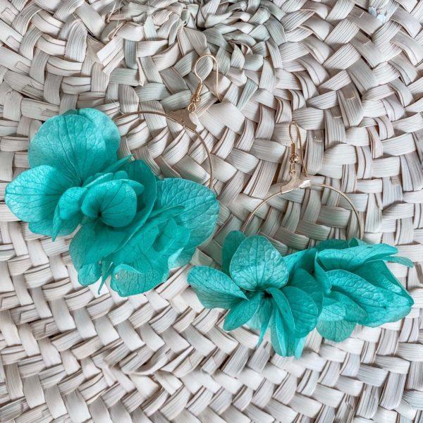 Boucles d'orelle Jamaïque - boucle d oreille fleur éternelle Cénélia Martinique