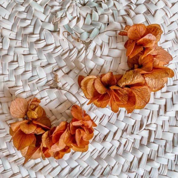 Boucles en fleurs éternelles Coconut Grove - cénélia