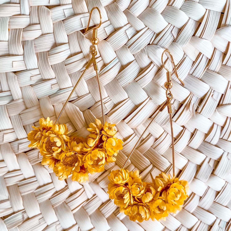 Boucles en fleurs vraies Martinique bijoux Cénélia - Macouba