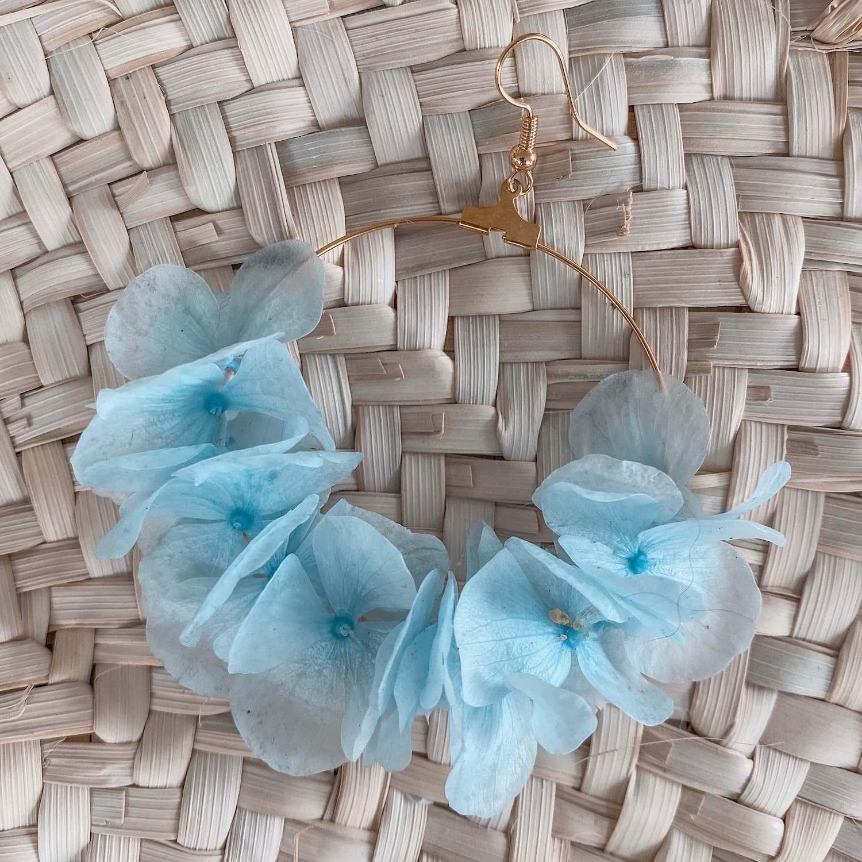 Boucles en vraies fleurs Cénélia - Nettle Bay