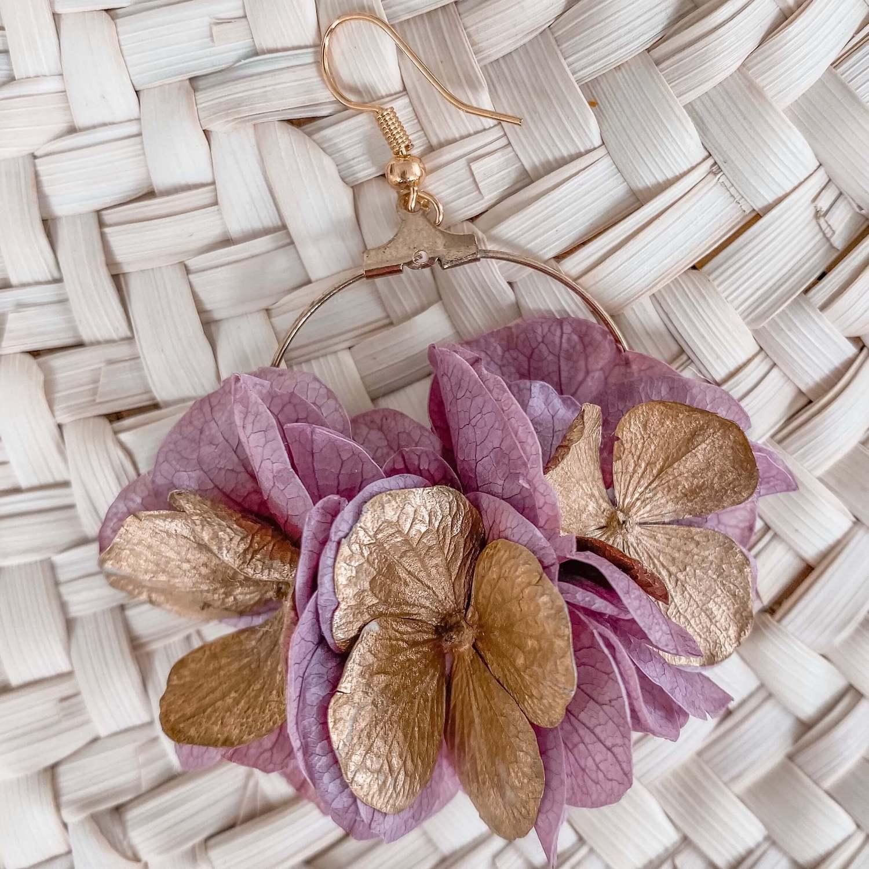 Boucles fleurs Manapany - Bijoux Cénélia mMrtinique