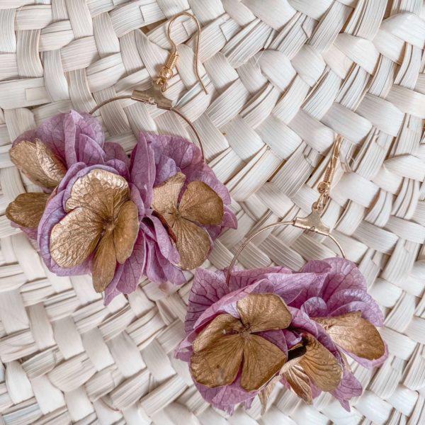 Boucles fleurs Manapany - Bijoux Cénélia martinique