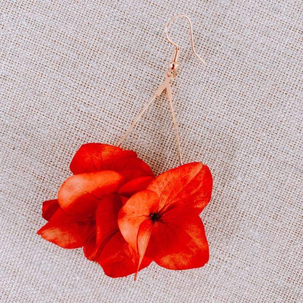 Boucles fleurs naturelles Flamenco Beach - Cénélia Martinique