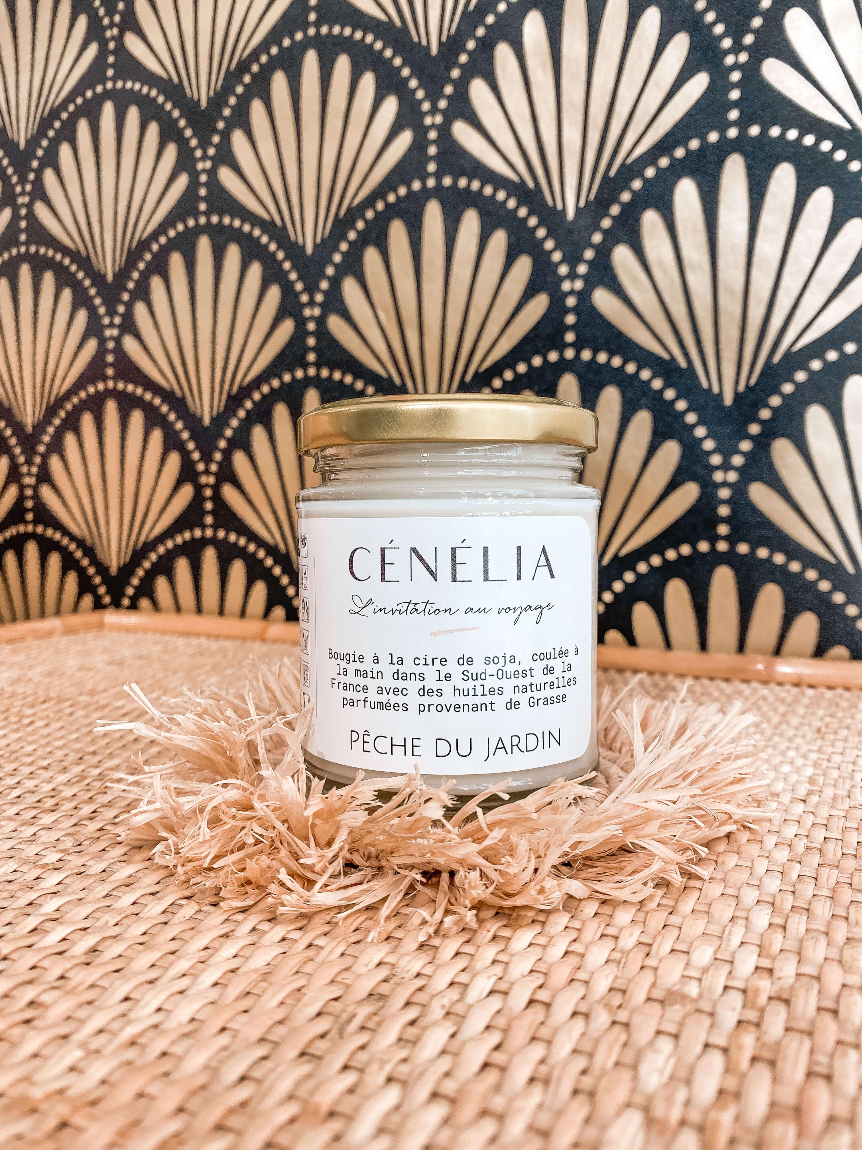 Bougie à la pêche - Bougie naturelle parfumée Cénélia
