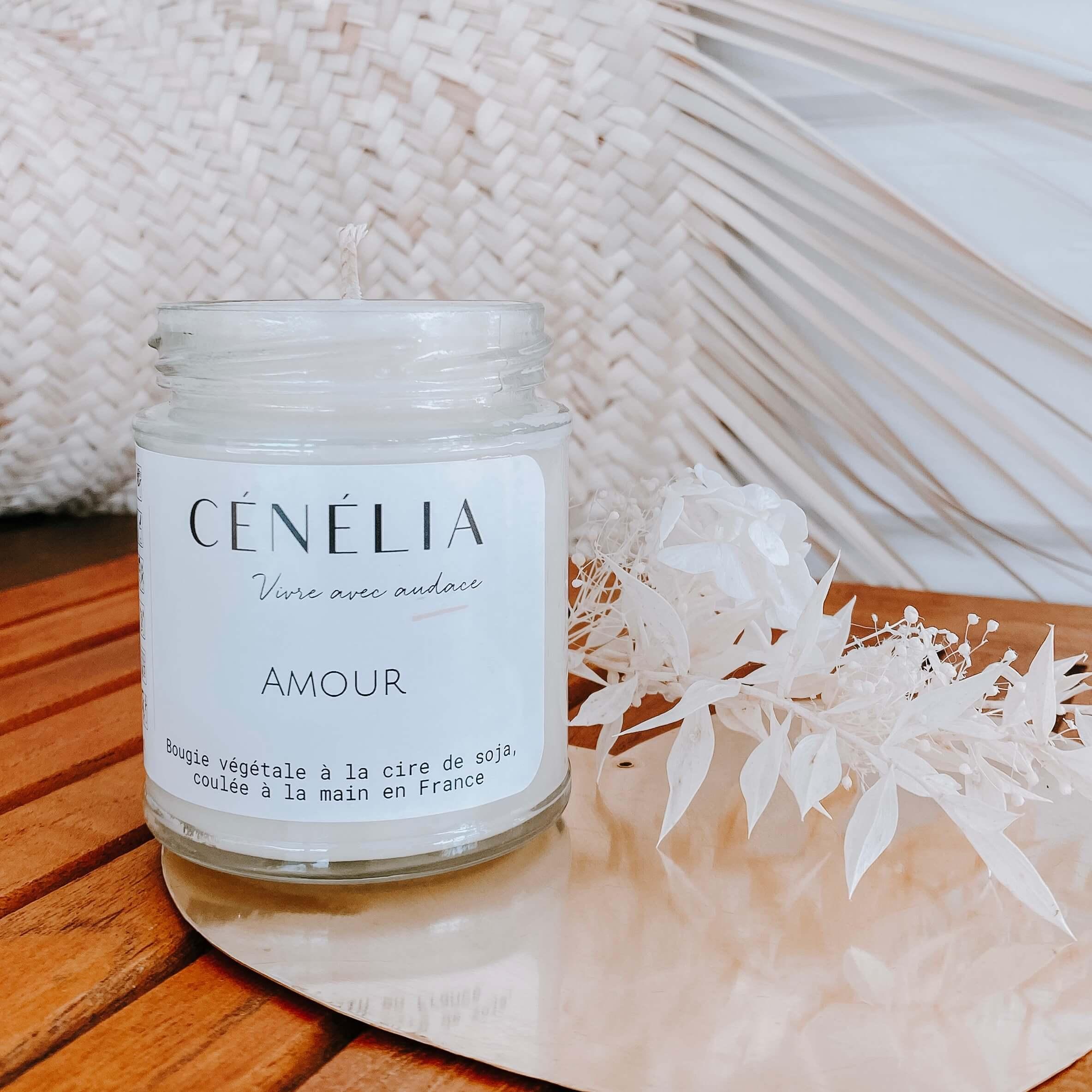 Bougie Amour - Bougie soja - Cénélia