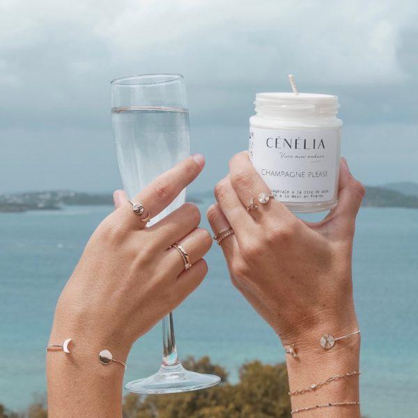 Bougie Cénélia Martinique - Champagne