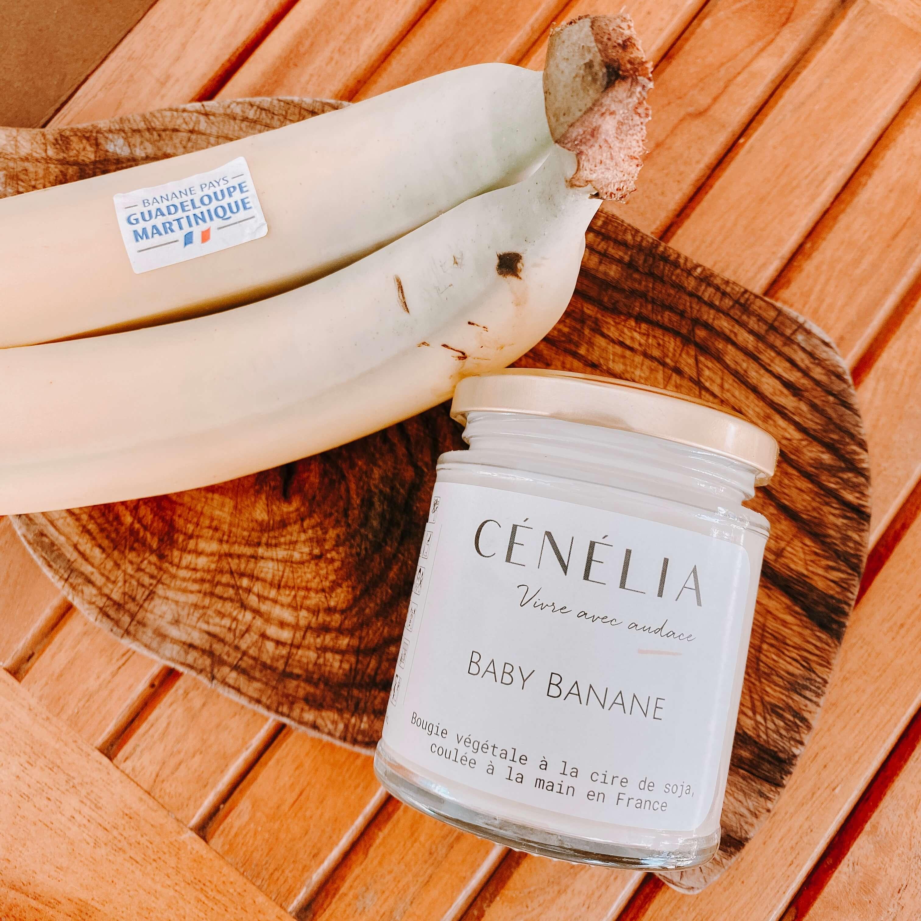 Bougie des îles - Bougie Cénélia Baby Banane