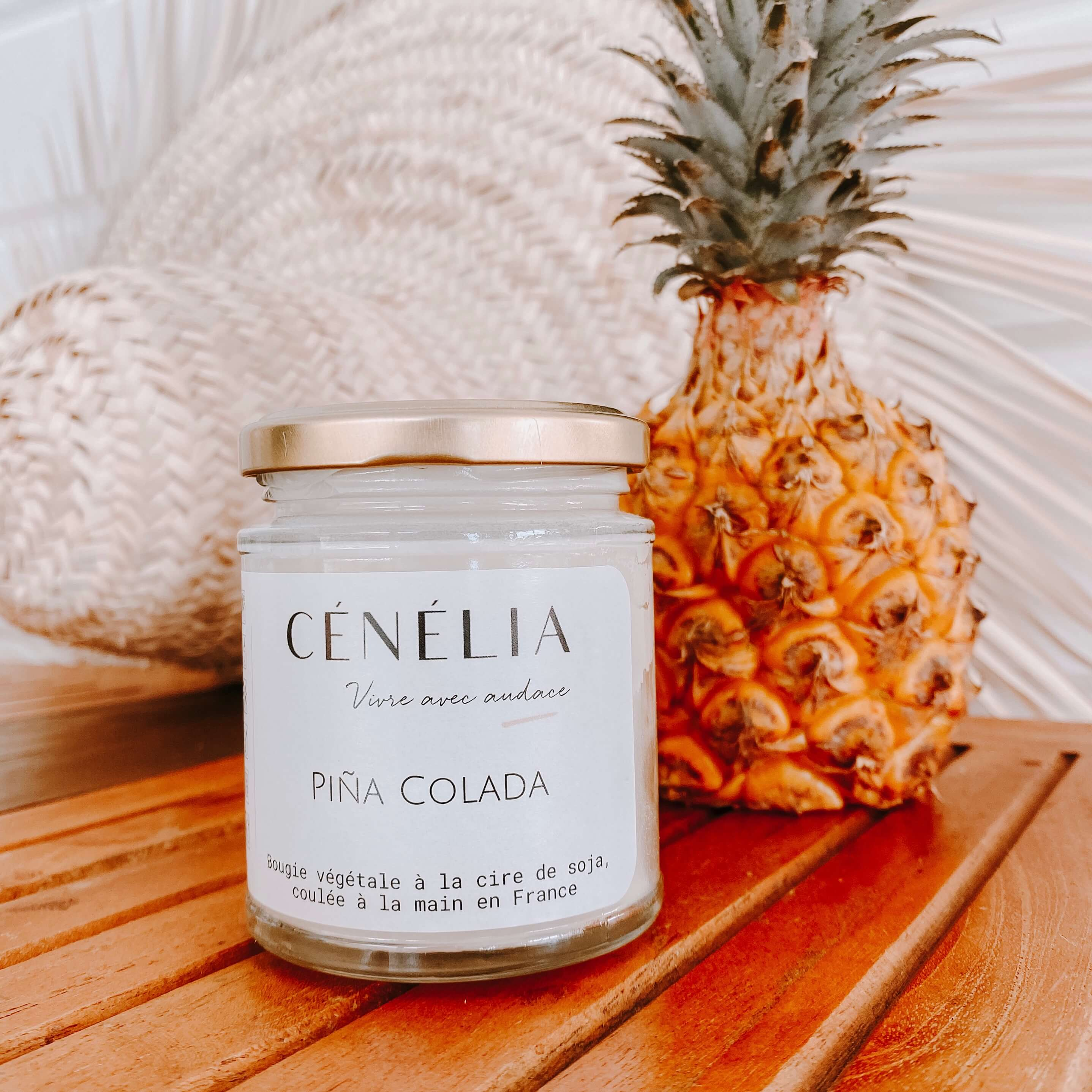 Bougie naturelle à l'ananas - Piña Colada Cénélia