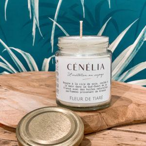Bougie naturelle parfumée - Cénélia - Fleur de Tiaré