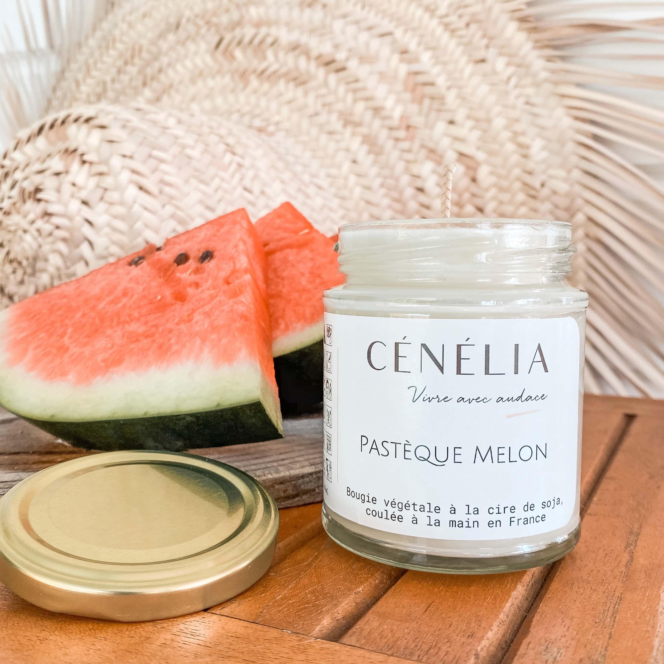 Bougie pastèque melon - Cénélia