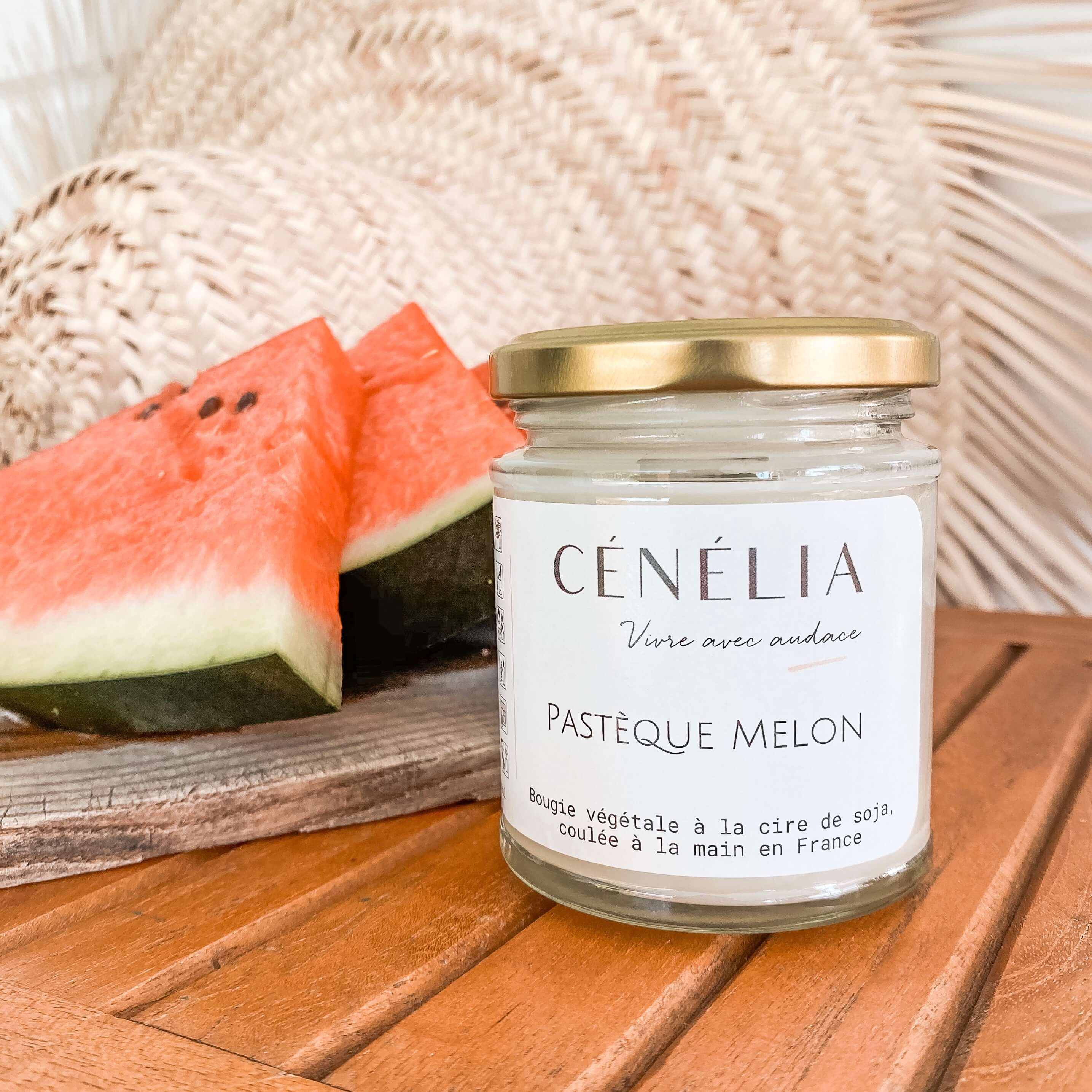 Bougie pastèque melon - bougie fruitée Cénélia