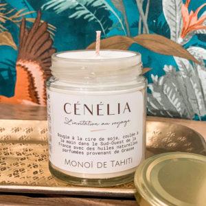 Bougie vegan - Monoï de Tahiti - Cénélia