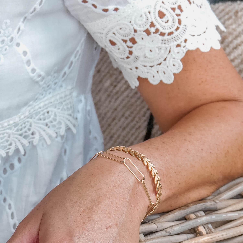Bracelet Émilie - Bracelet maille large Cénélia Martinique