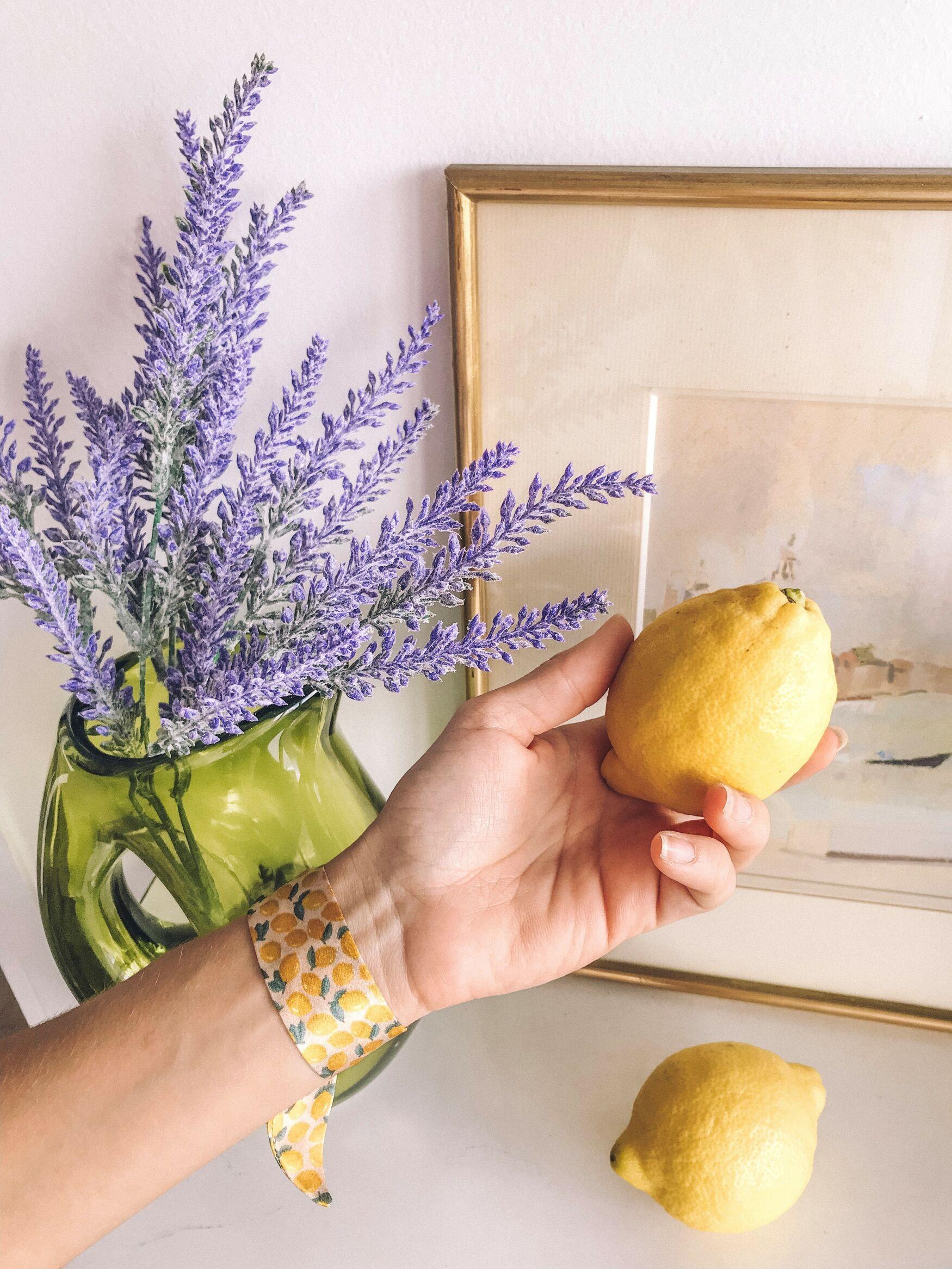 Bracelet en soie | bracelet femme tendance | bracelet citron | Cénélia | Citronnade