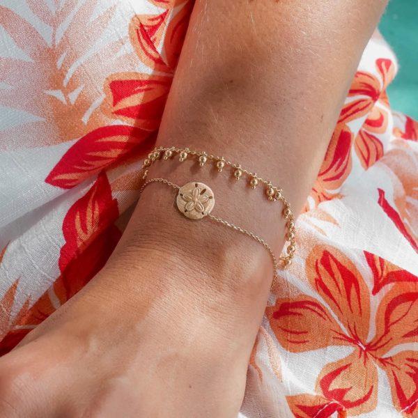 Bracelet fin femme - Bijou plaqué or - Cénélia