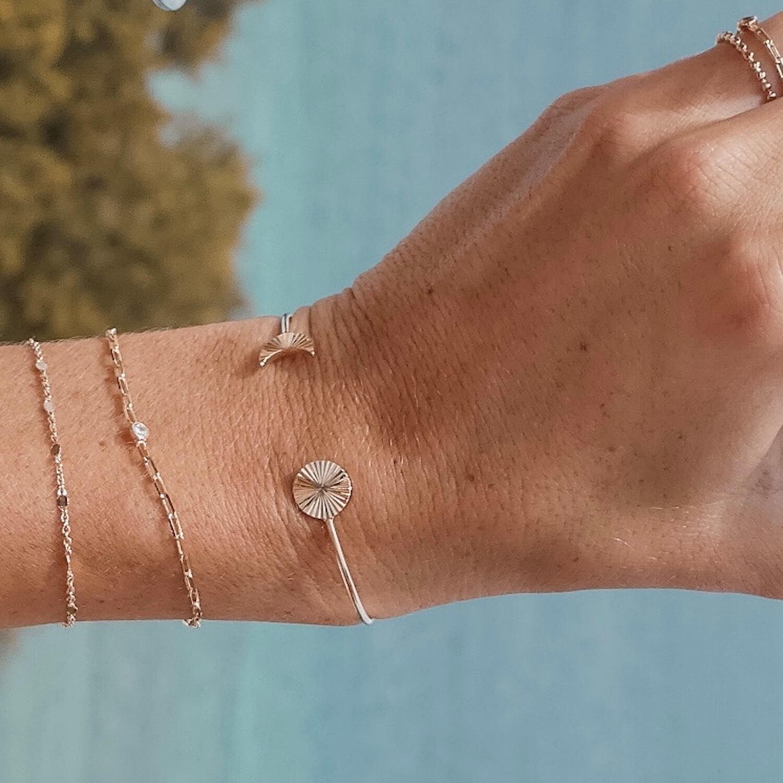 Bracelet plaqué or et zircon Mathilde - Cénélia