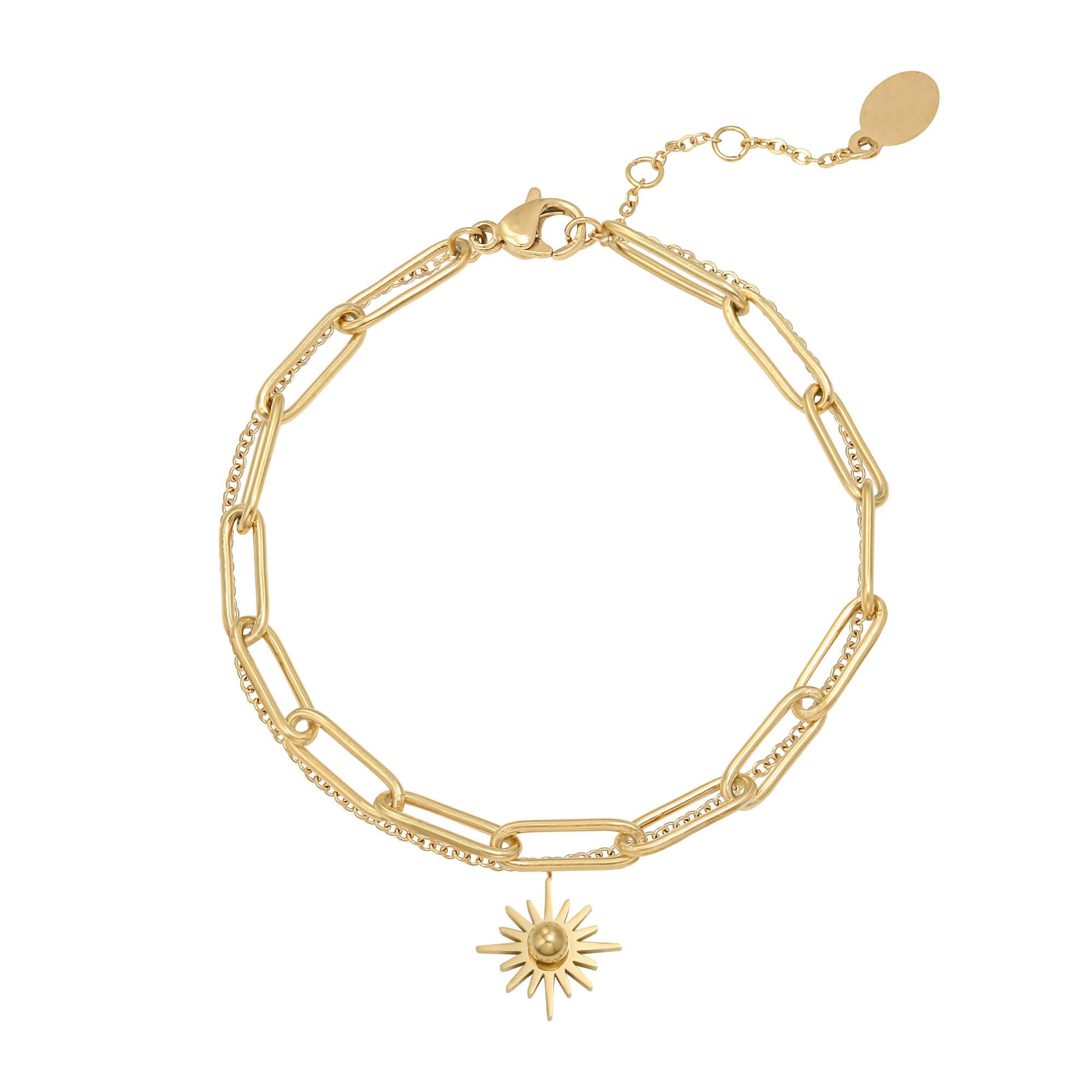 Bracelet soleil - bracelet chaine double mode - Sunny - Cénélia