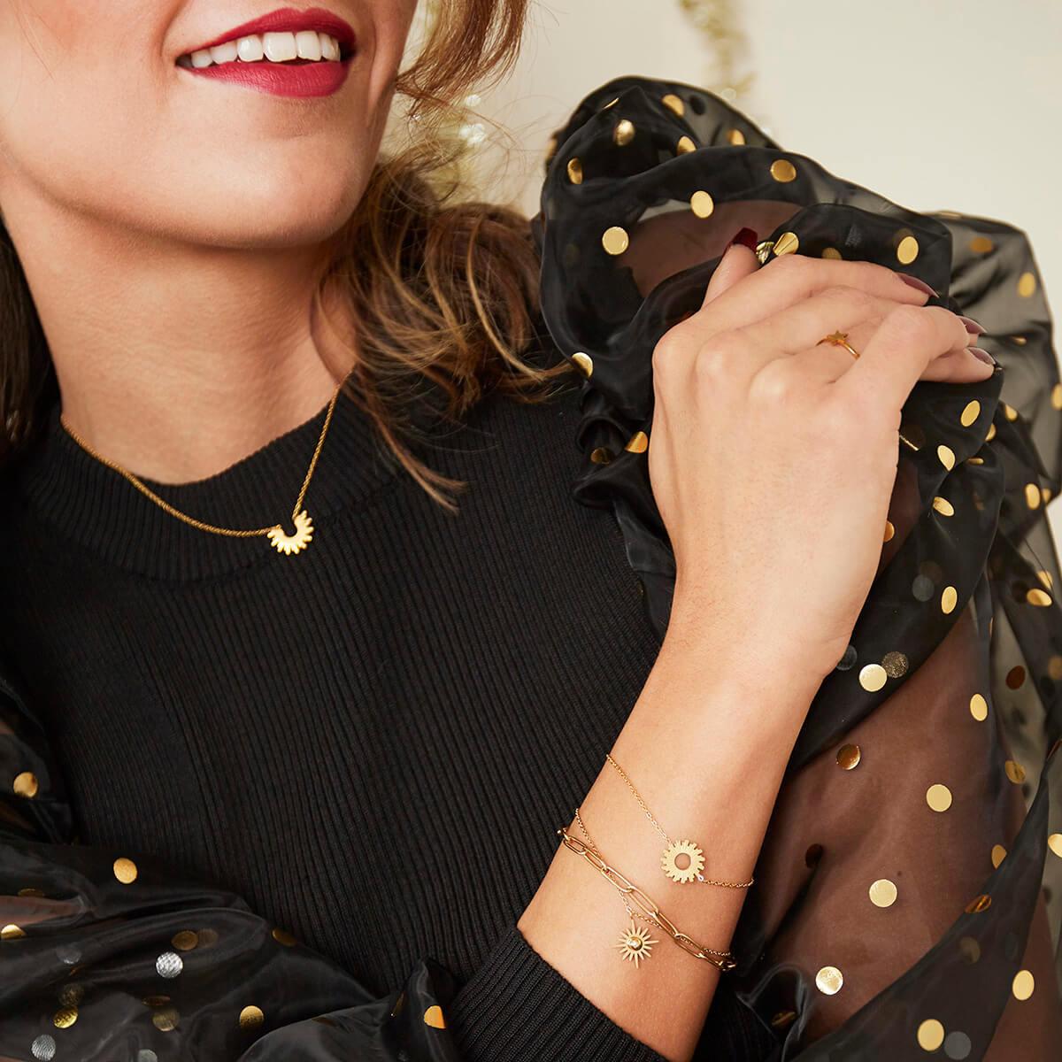 Bracelet soleil - bracelet chaine femme mode - Sunny - Cénélia