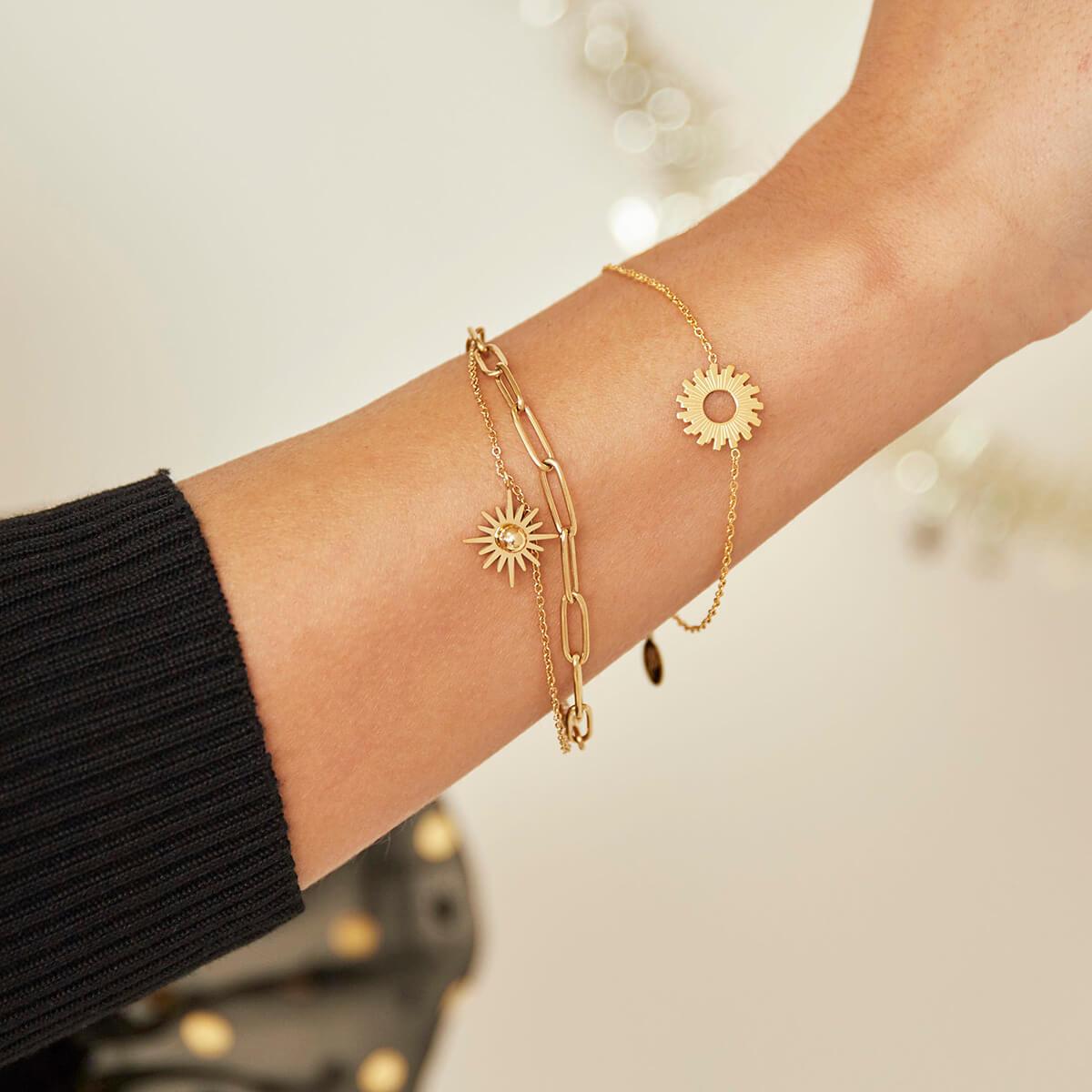 Bracelet soleil - bracelet chaine mode - Sunny - Cénélia