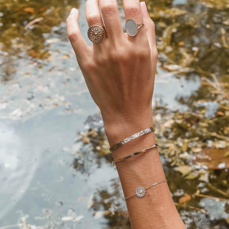 Bracelets Cénélia Martinique - jonc martelé