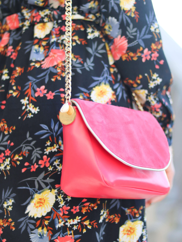 Cénélia - Petit sac en cuir Nina - sac femme rose