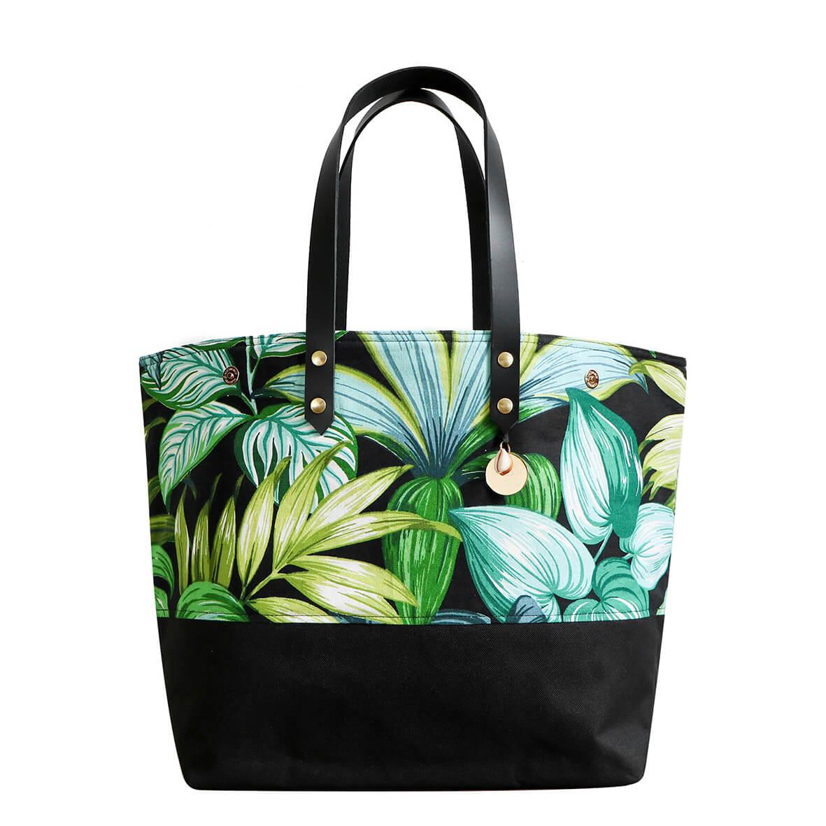Cénélia - Sac cabas personnalisé - sac à main fabriqué en France - Jungle night