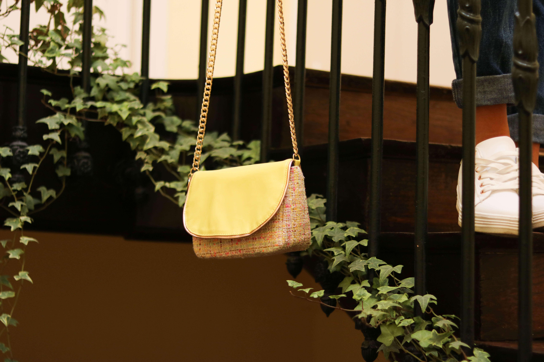 Cénélia - petit sac en tweed et cuir Chloé - sac haute couture