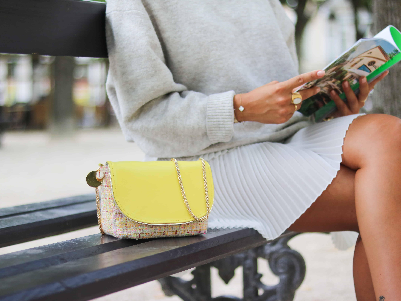 Cénélia | style de la parisienne | petit sac tweed haute Couture Chloé