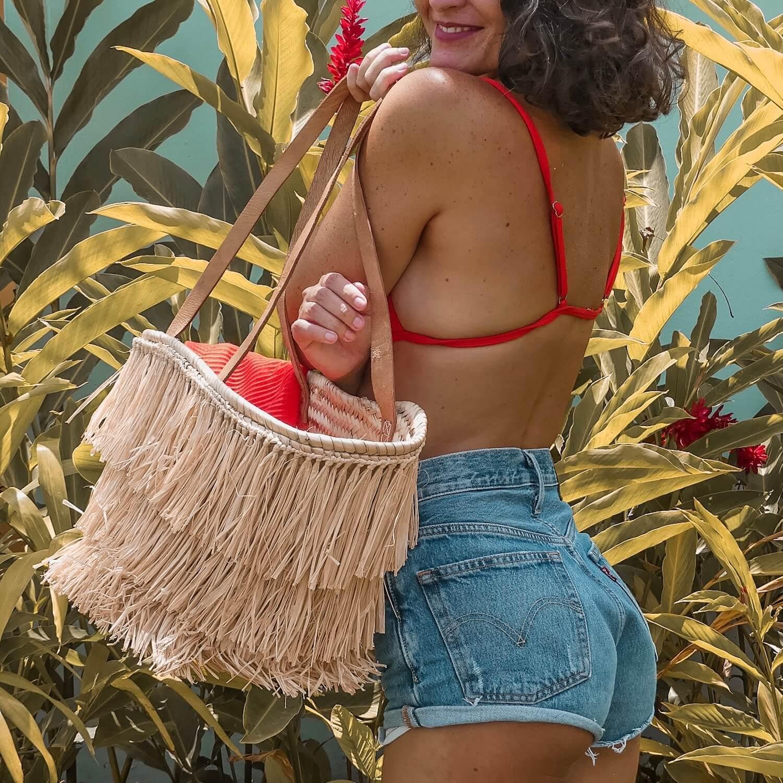 Cénélia - panier de plage mode Martinique